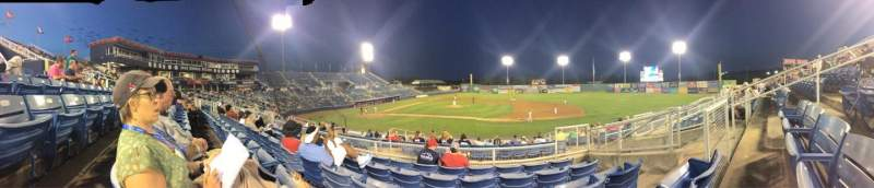 Seating view for Salem Memorial Baseball Stadium Section 211 Row Q Seat 22