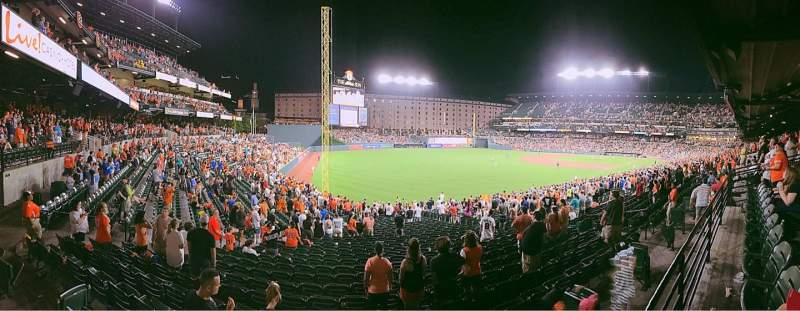 Seating view for Oriole Park at Camden Yards Section 69 Row 1 Seat 15