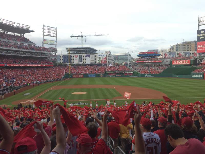 Seating view for Nationals Park Section 128 Row UU Seat 1