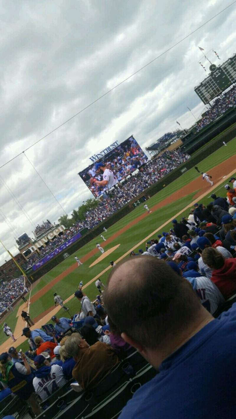 Seating view for Wrigley Field Section 126 Row 11 Seat 18