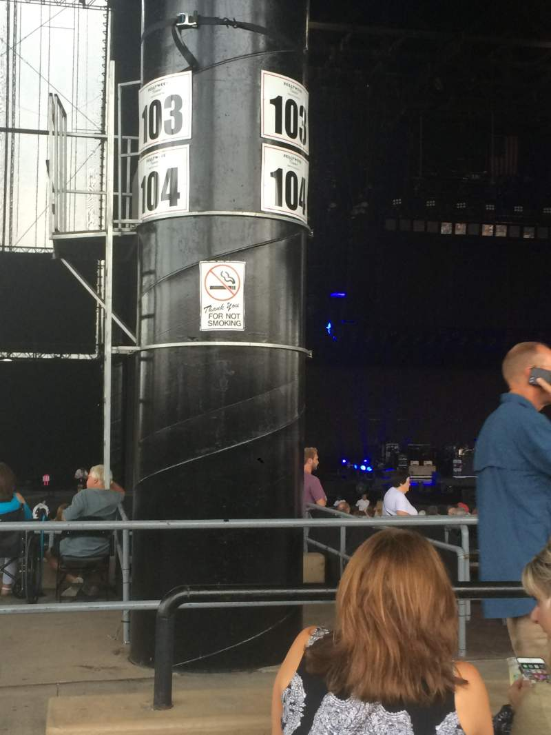 Seating view for Hollywood Casino Amphitheatre (Tinley Park) Section 205 Row OO Seat 41