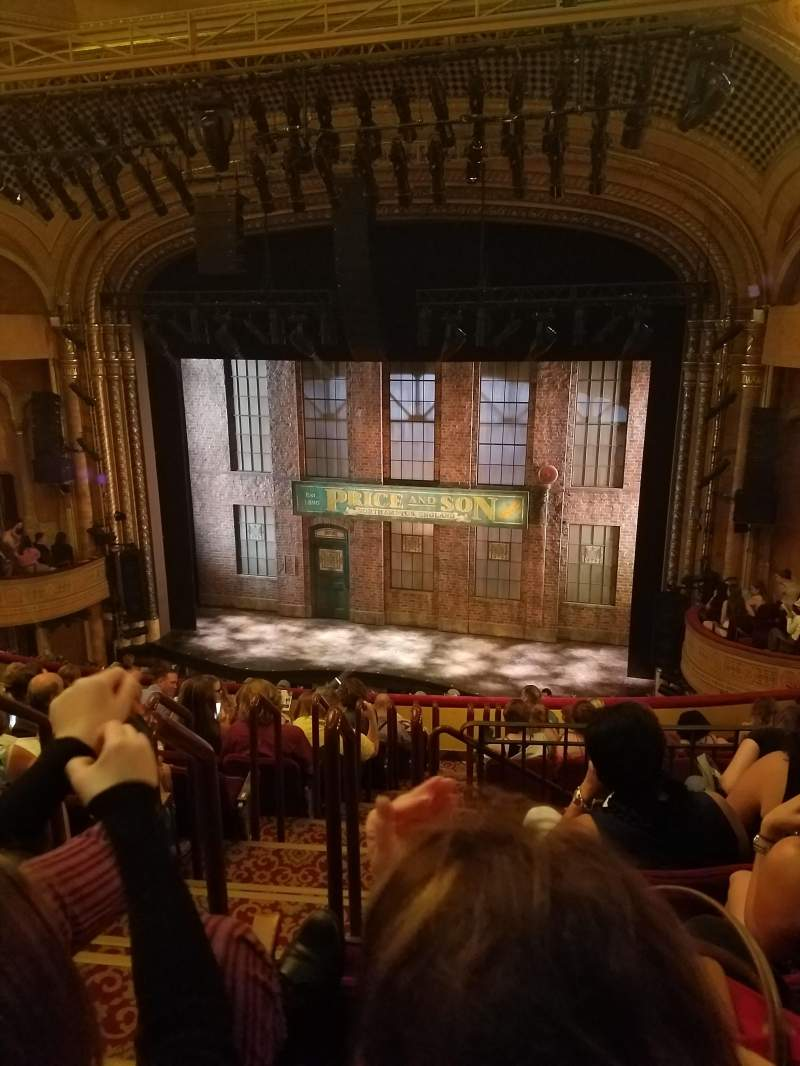 Seating view for Al Hirschfeld Theatre Section Mezzanine R Row L Seat 4