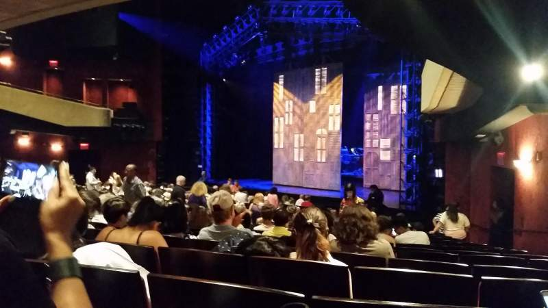 Seating view for Marquis Theatre Section orchestra Right Row T Seat 28