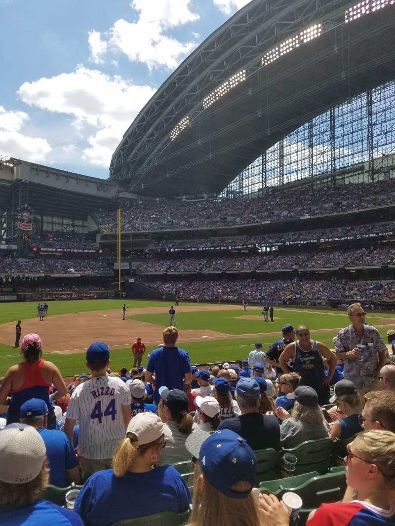 Miller Park, section 124, row 18, seat 8 - Milwaukee Brewers