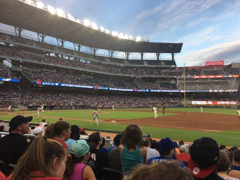 Seating view for SunTrust Park Section 16 Row 10 Seat 7