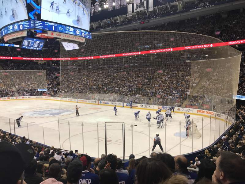 Seating view for Air Canada Centre Section 116A Row 17 Seat 3