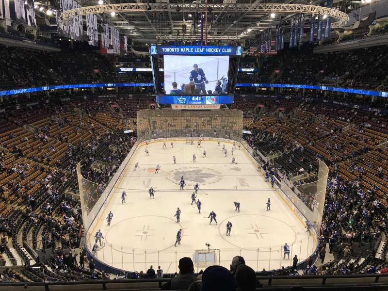 Seating view for Air Canada Centre Section 303 Row 6 Seat 13