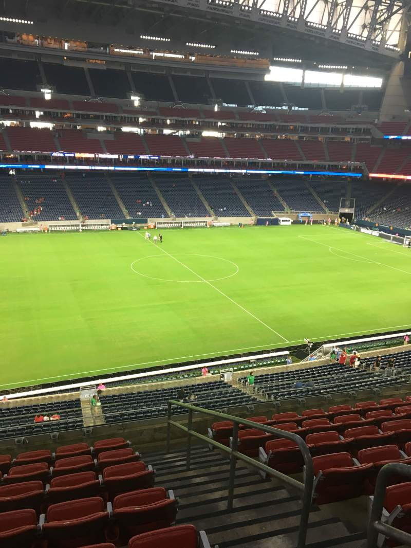 Seating view for NRG Stadium Section 340 Row P Seat 4