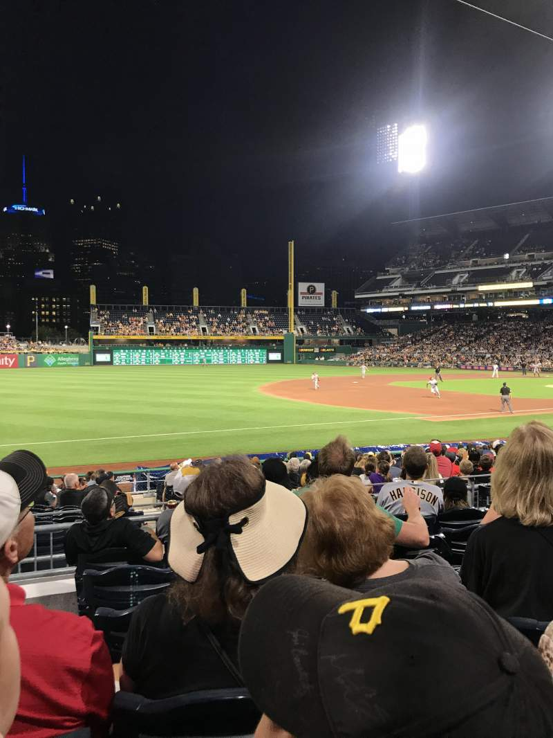 Seating view for PNC Park Section 127 Row F Seat 23