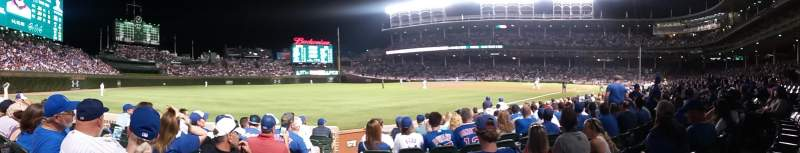 Seating view for Wrigley Field Section 5 Row 12 Seat 1