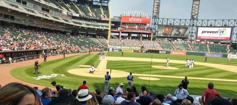 Seating view for Guaranteed Rate Field Section 128 Row 17 Seat 7