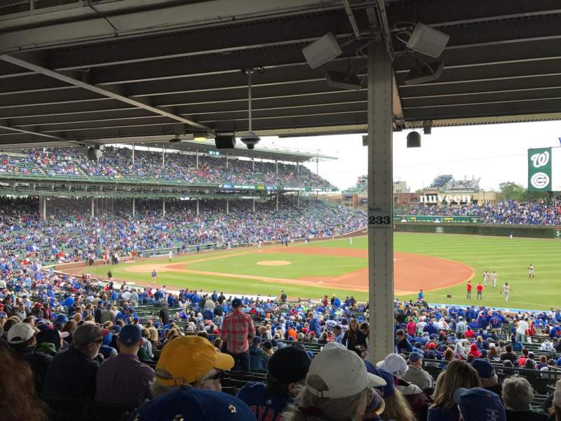 Seating view for Wrigley Field Section 227 Row 15 Seat 3