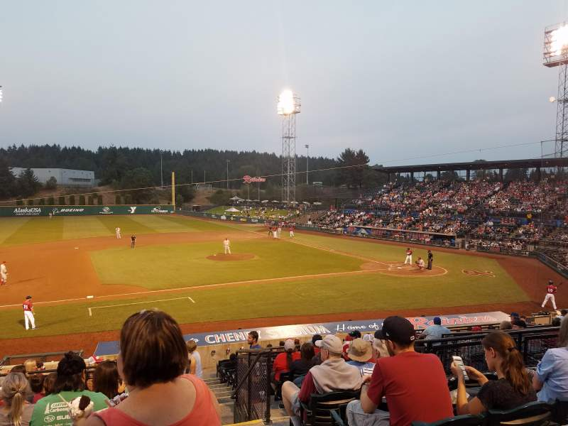 Seating view for Cheney Stadium Section B Row 10 Seat 21