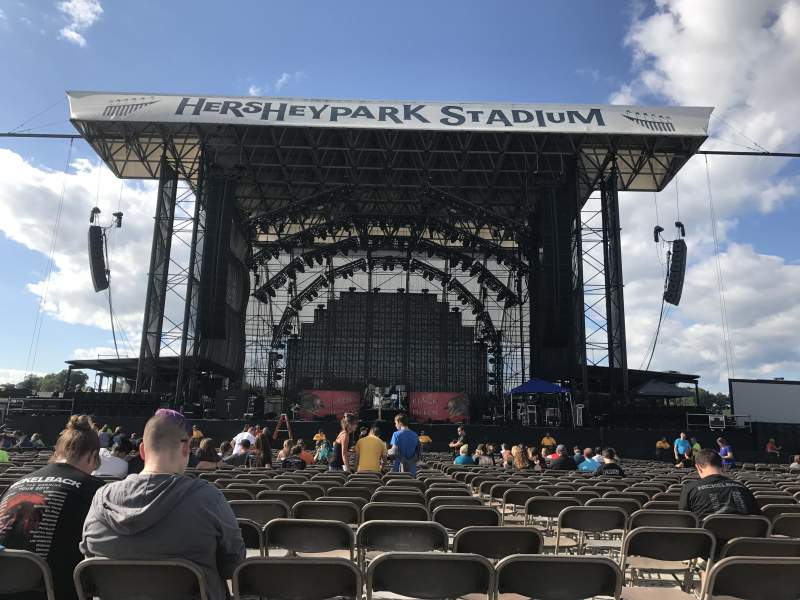 Hershey Park Stadium, section: B, row: 32, seat: 21