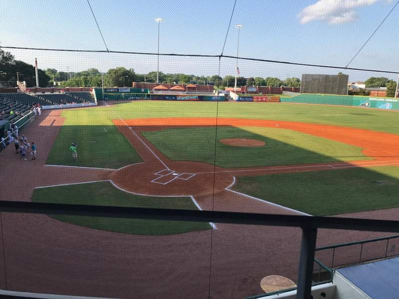 Seating view for Bowling Green Ballpark Section 205 Row A Seat 3,4