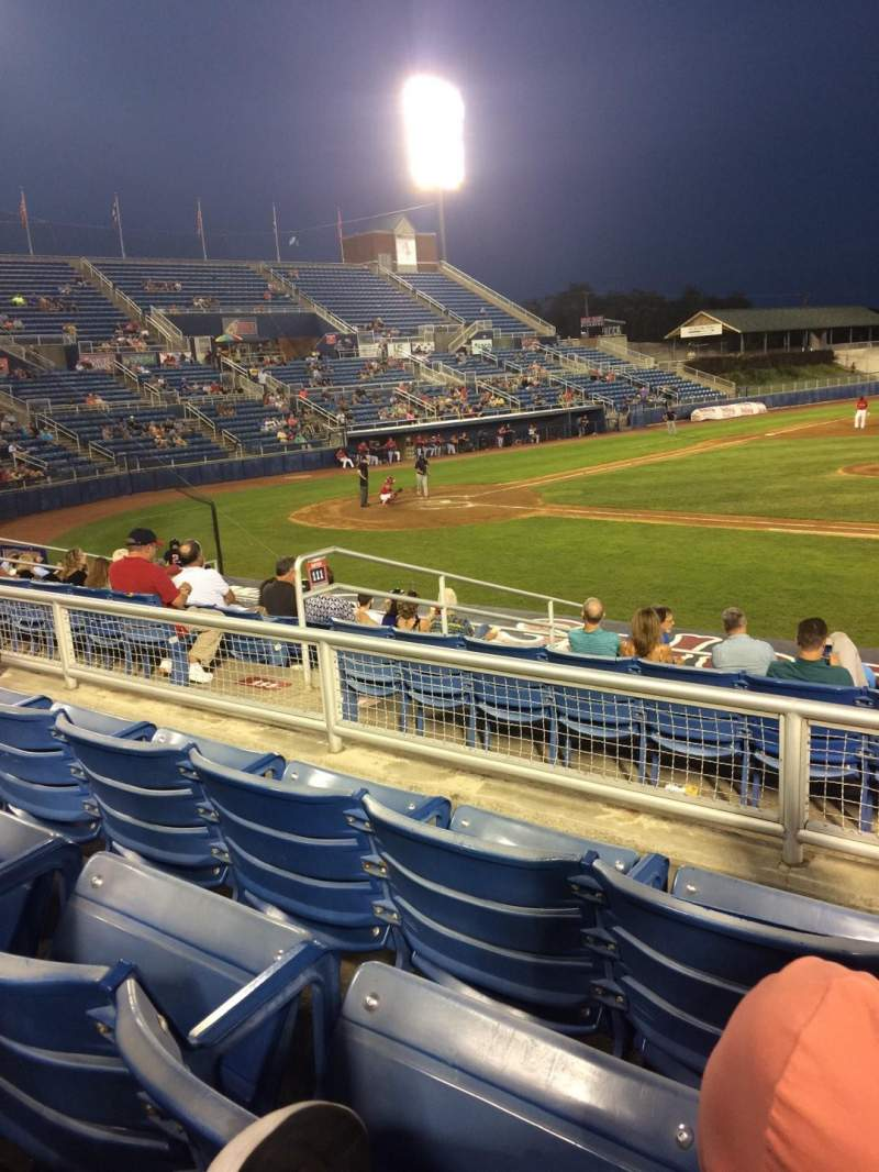 Seating view for Salem Memorial Baseball Stadium Section 211 Row L Seat 20
