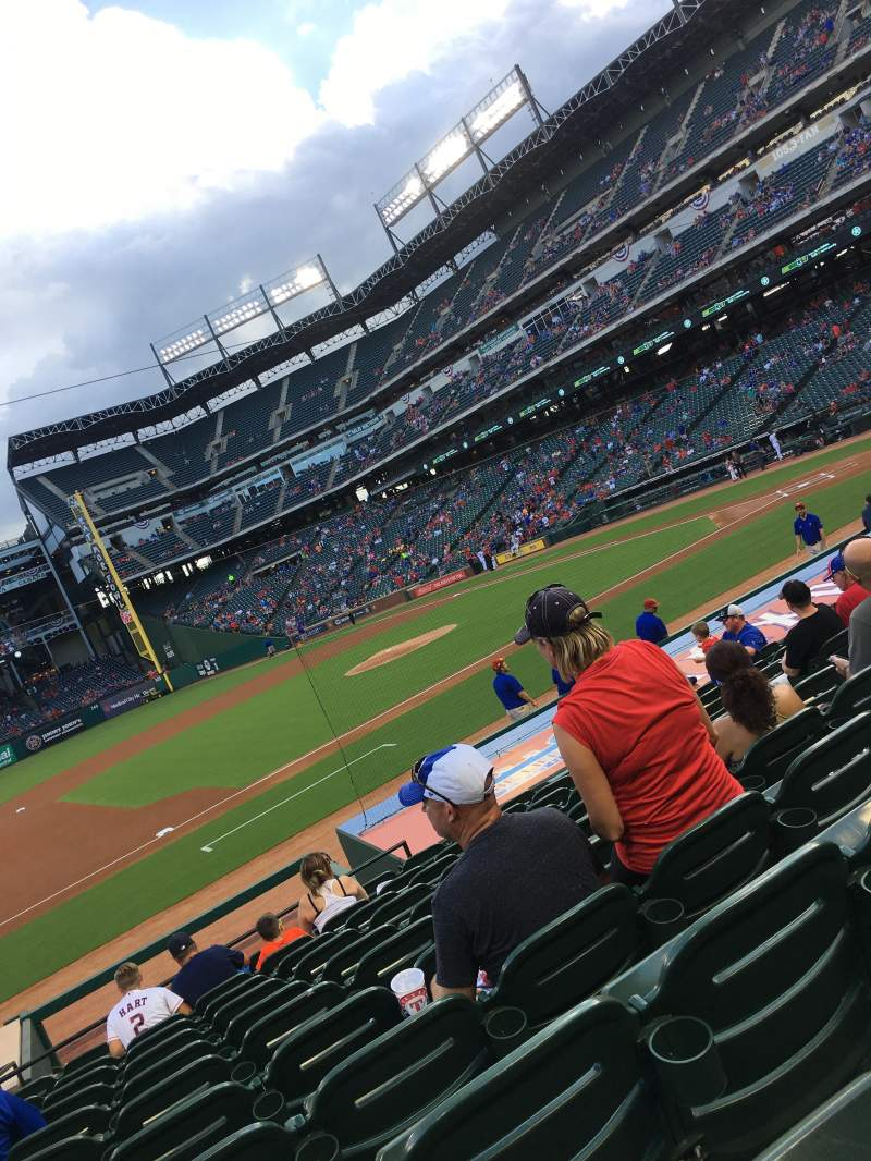 Seating view for Globe Life Park in Arlington Section 18 Row 14 Seat 12