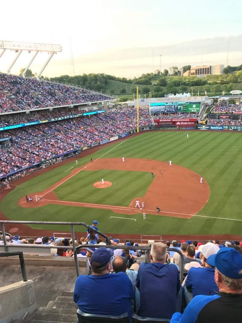 Kauffman Stadium, section: 431, row: T, seat: 3