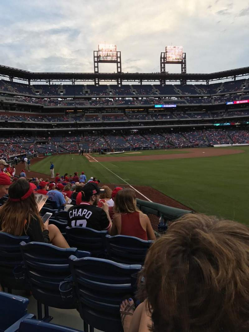 Seating view for Citizens Bank Park Section 108 Row 17 Seat 11