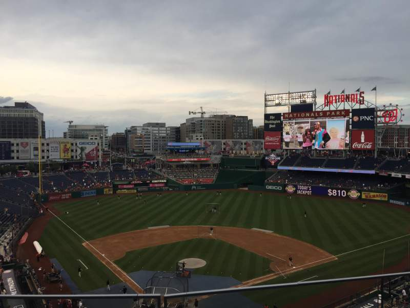 Seating view for Nationals Park Section 315 Row B Seat 9