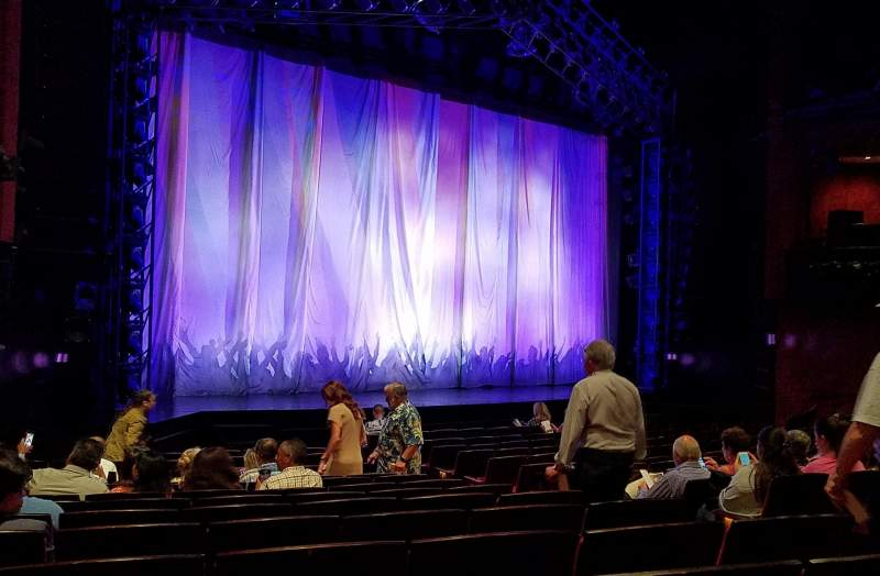 Seating view for Marquis Theatre Section Orchestra Row N Seat 9 and 11