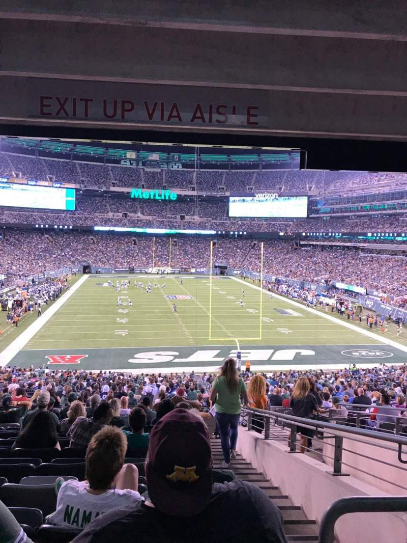 Seating view for MetLife Stadium Section 103 Row 26 Seat 4