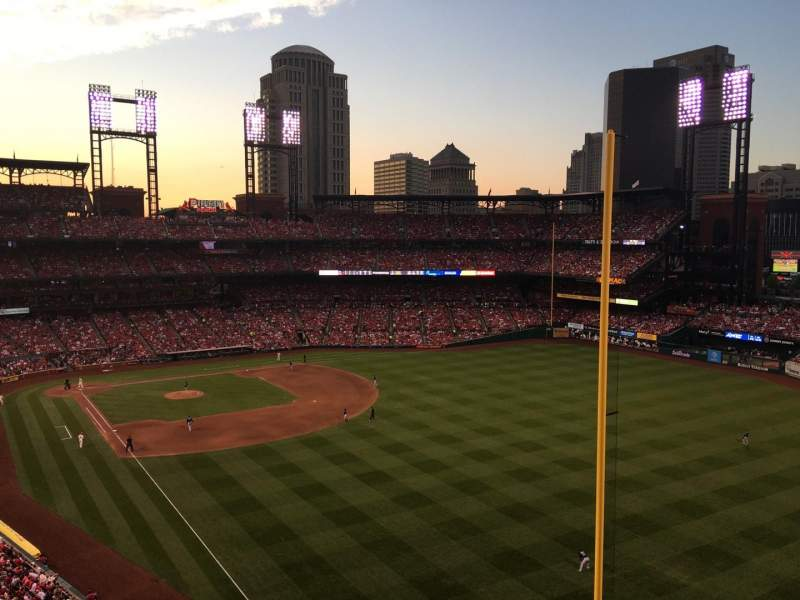 Seating view for Busch Stadium Section 331 Row 2 Seat 09