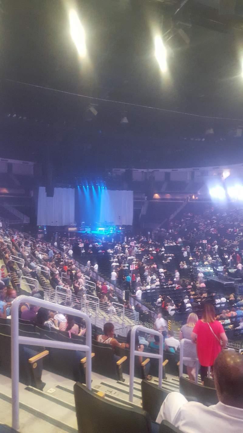 Infinite Energy Arena, section: 122, row: V, seat: 36