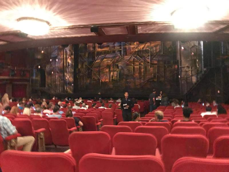 Seating view for Broadway Theatre - 53rd Street Section Right Orchestra Row V Seat 3
