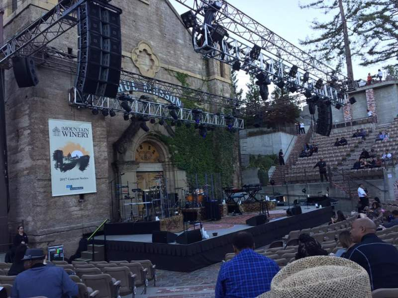 Seating view for Mountain Winery Section 1 Row L Seat 61