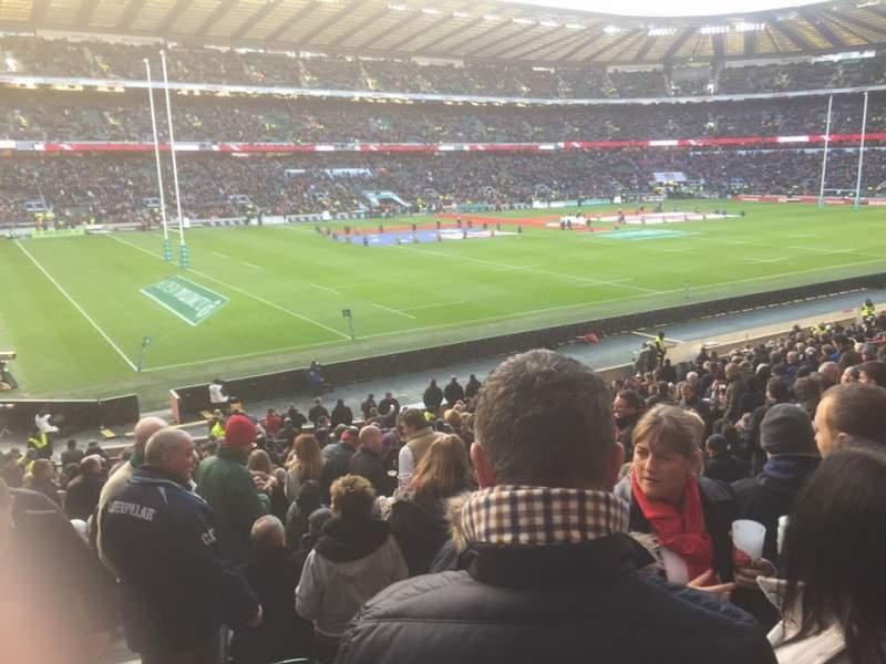 Seating view for Twickenham Stadium Section L29 Row 30 Seat 349