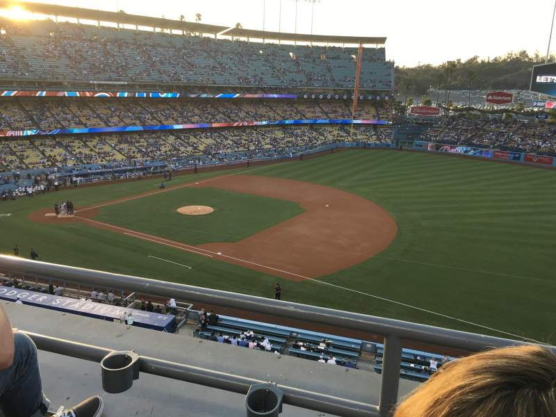 Seating view for Dodger Stadium Section 28RS Row B Seat 20