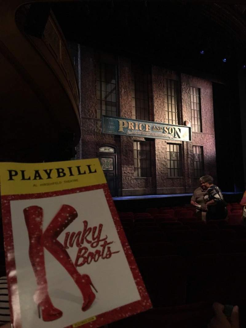 Seating view for Al Hirschfeld Theatre Section Orchestra L Row N Seat 21