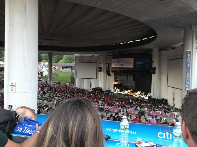 Seating view for PNC Bank Arts Center Section Citi Deck