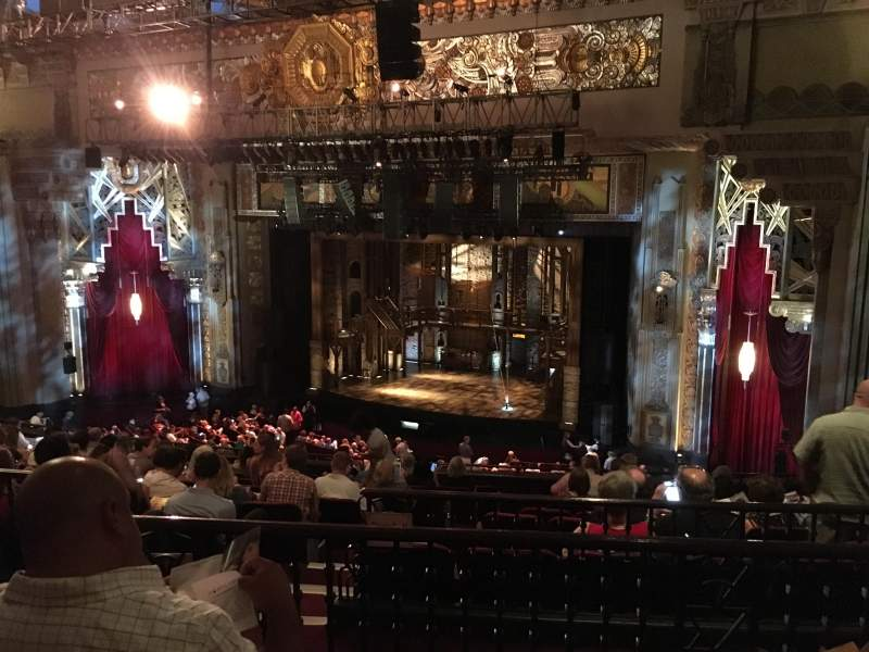 Seating view for Hollywood Pantages Theatre Section Mezzanine R Row L Seat 14