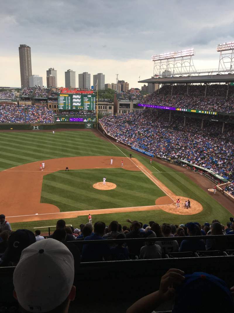 Seating view for Wrigley Field Section 514 Row 2 Seat 6