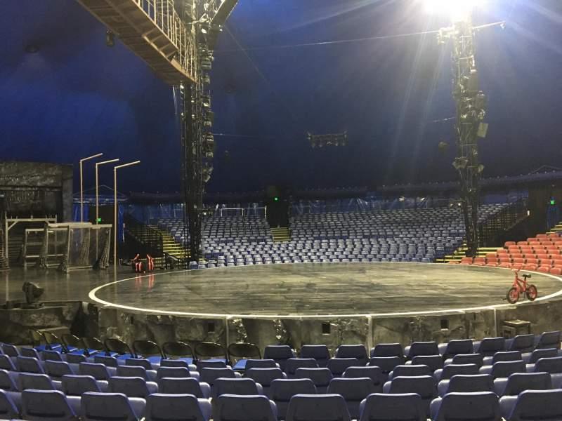 Seating view for Cirque Du Soleil - Volta Section 103 Row E
