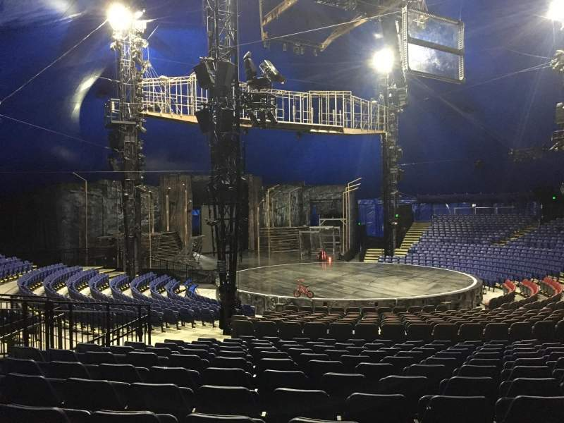 Seating view for Cirque Du Soleil - Volta Section 201 Row Q