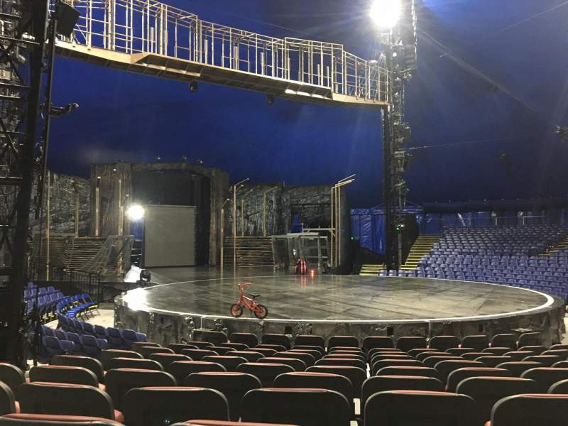 Seating view for Cirque Du Soleil - Volta Section 201 Row H