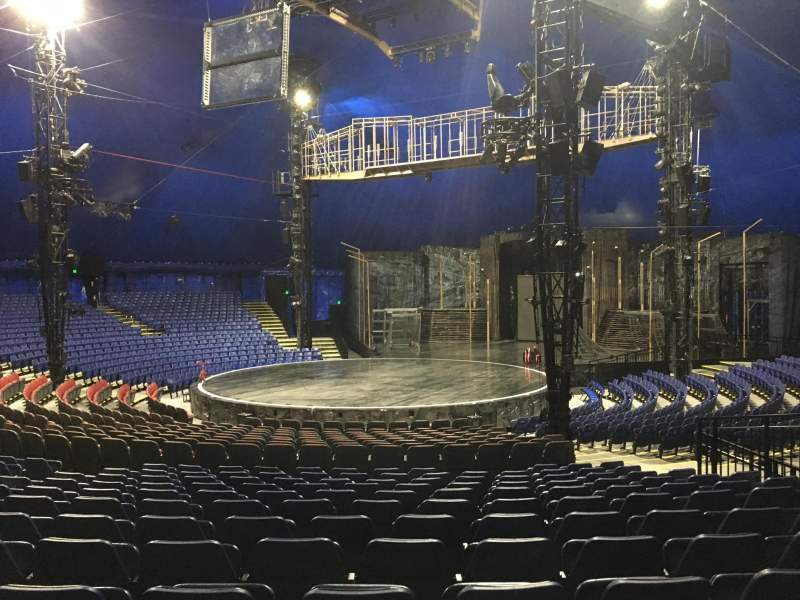 Seating view for Cirque Du Soleil - Volta Section 202 Row Q
