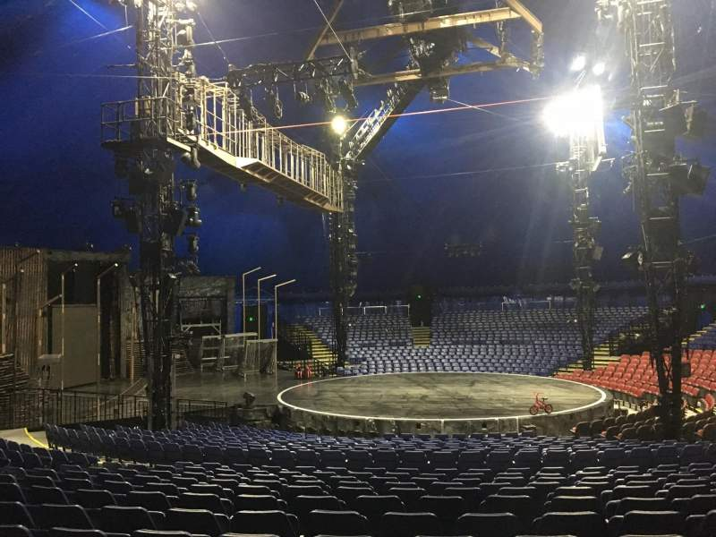 Seating view for Cirque Du Soleil - Volta Section 203 Row Q