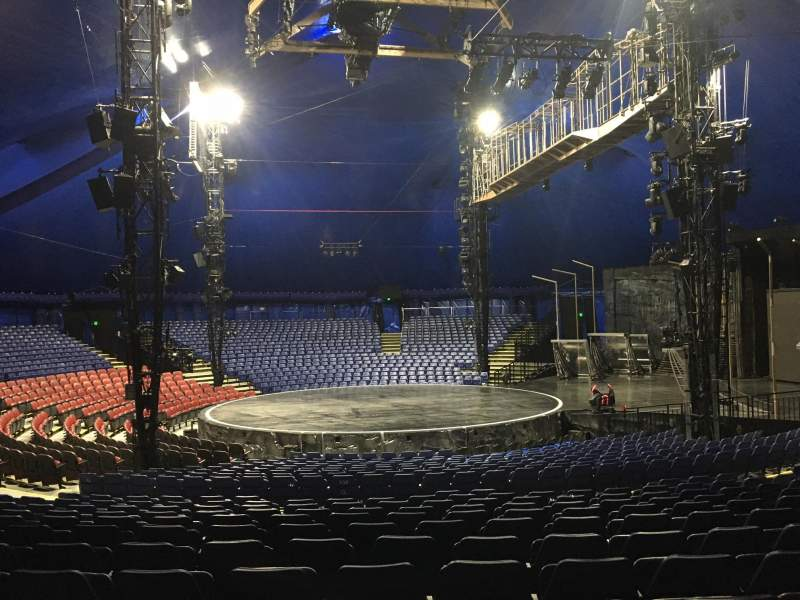 Seating view for Cirque Du Soleil - Volta Section 204 Row Q