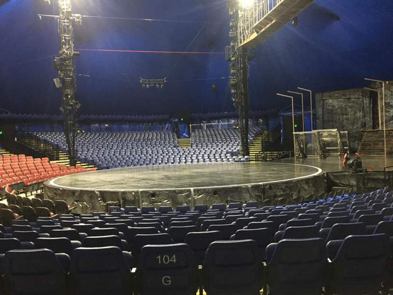 Seating view for Cirque Du Soleil - Volta Section 204 Row H
