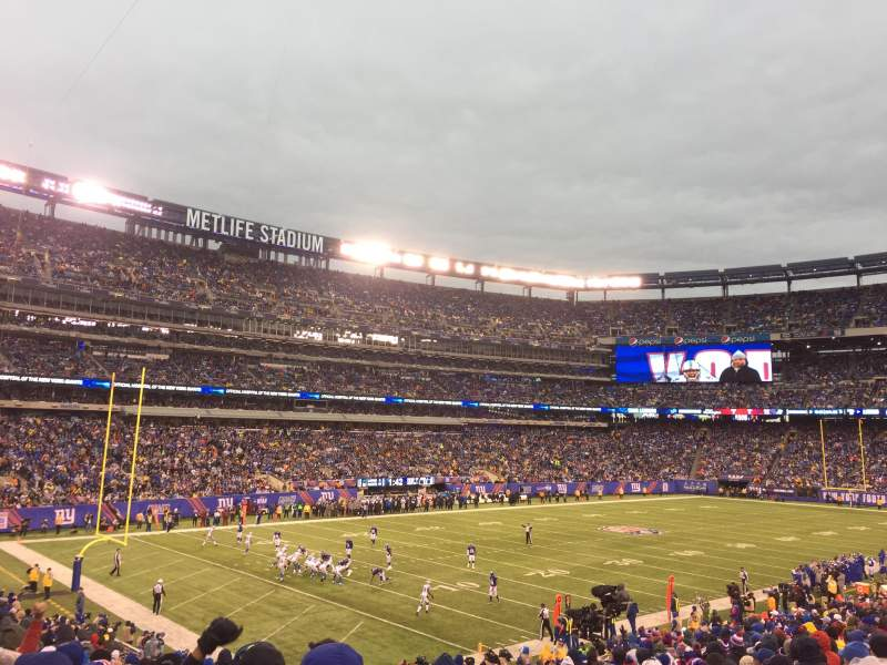 MetLife Stadium, section: 121, row: 29, seat: 1and2