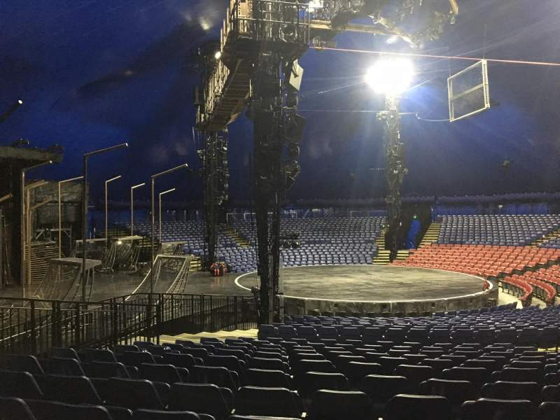 Seating view for Cirque Du Soleil - Volta Section 205 Row Q