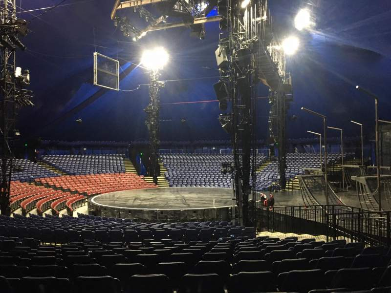 Seating view for Cirque Du Soleil - Volta Section 206 Row Q