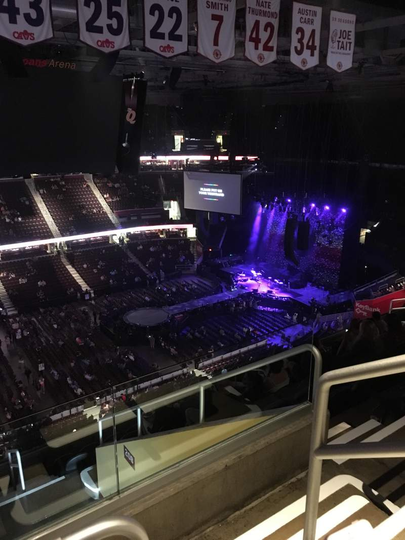 Seating view for Quicken Loans Arena Section 207 Row 11 Seat 18