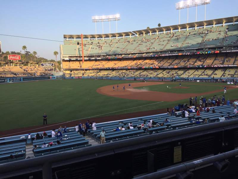 Seating view for Dodger Stadium Section 151LG Row B Seat 7