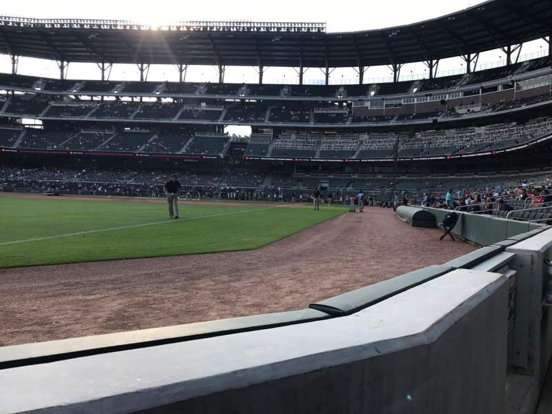 SunTrust Park, section: 41, row: 1, seat: 6