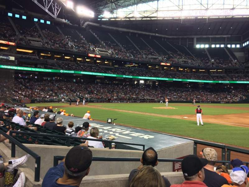 Seating view for Chase Field Section B Row G Seat 9